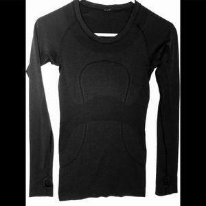 Lululemon, long sleeve, black, shirt, size 2